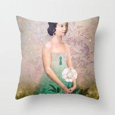 The Castle Garden Throw Pillow