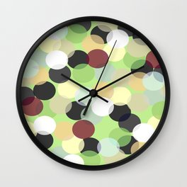 Green and Lights with Darks Wall Clock