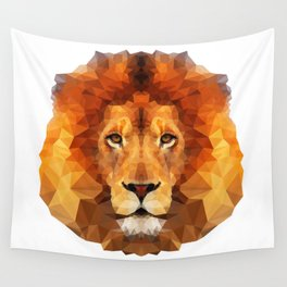 Geometric Lion Wall Tapestry