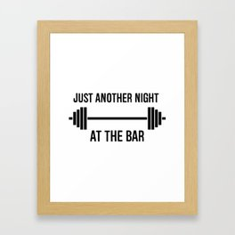 Just another night at the Bar Framed Art Print