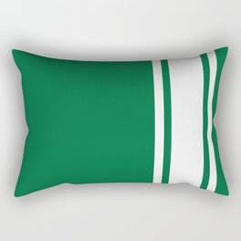 Green Racer Rectangular Pillow