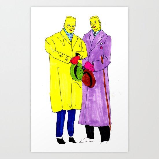 dudes Art Print