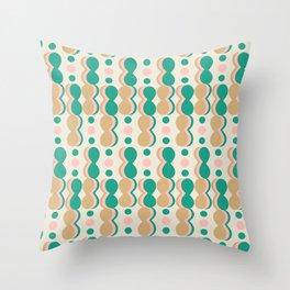 Uende Cactus - Geometric and bold retro shapes Throw Pillow