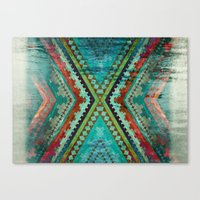 aztec Canvas Prints featuring AZTEC by ED design for fun