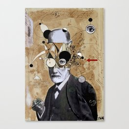 FREUD WITH ABSTRACT CONCEPTS Canvas Print