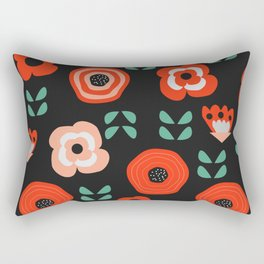 Midnight floral decor Rectangular Pillow