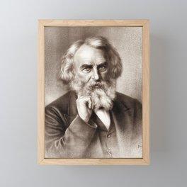 Henry Wadsworth Longfellow - American Poet Framed Mini Art Print