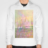 sailboat Hoodies featuring Sailboat Flyby by 3crows