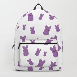 Purple Bunny Peeps Pattern Backpack
