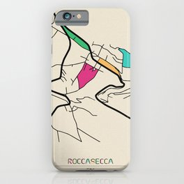 Colorful City Maps: Roccasecca, Italy iPhone Case