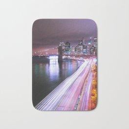 City Lights Highway Bath Mat