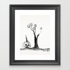 the pumpkin & the tree Framed Art Print