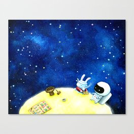 Meeting the Moon Rabbit Canvas Print