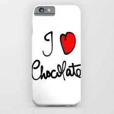 i love chocolate iPhone 6s Slim Case