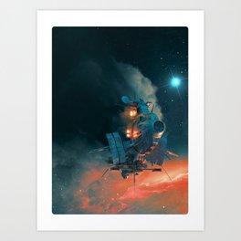 Ghostship 2 Art Print