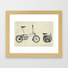Brompton Bicycle Framed Art Print