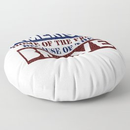 America Home of the Free Because of the Brave Floor Pillow