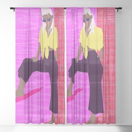 Casually tropical Sheer Curtain