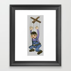 DOLL PUPPET II RED CHEEKS  Framed Art Print
