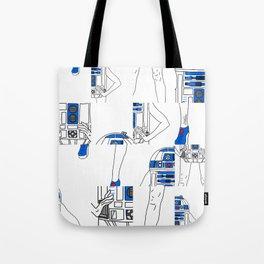 Robot Girl Cubism Tote Bag