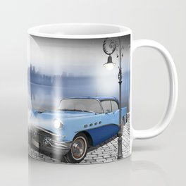 The beauty at night with vintage car Coffee Mug