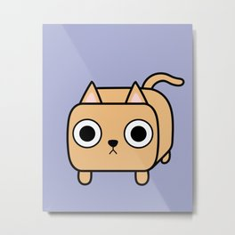 Cat Loaf - Orange Kitty Metal Print