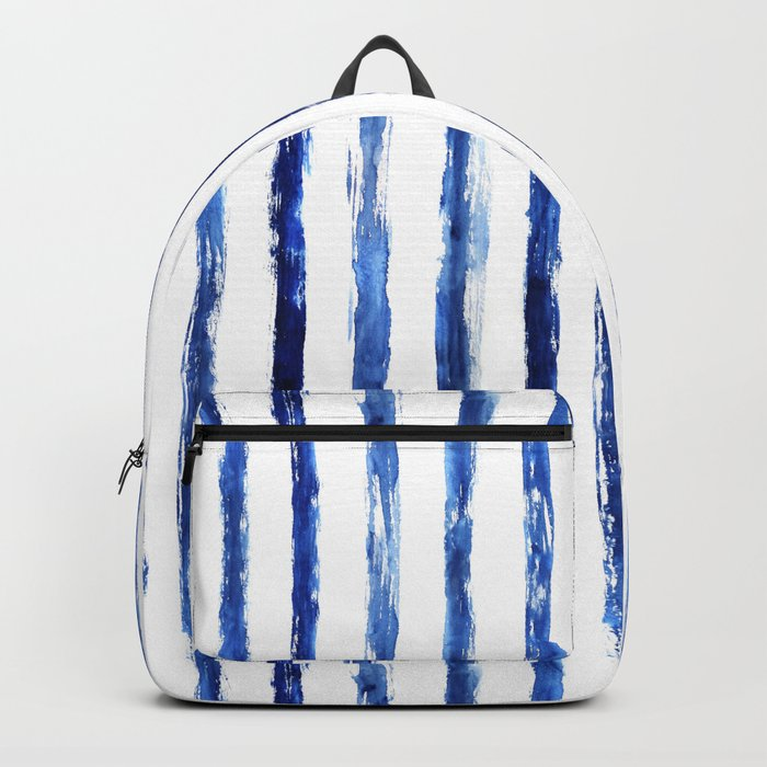 Blue painted stripes Backpack