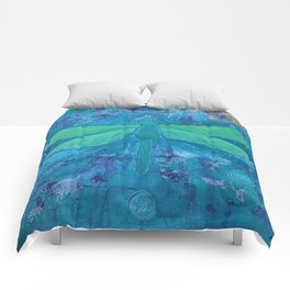 Om Dragonfly Comforters