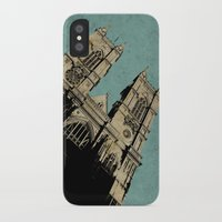 downton abbey iPhone & iPod Cases featuring Westminster Abbey by sinonelineman