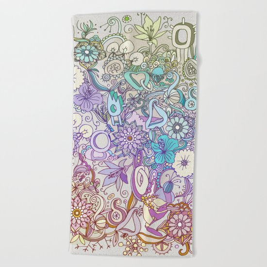 Camtric world creatures Beach Towel