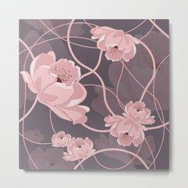 Abstra Rose Metal Print