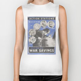 Reprint of British wartime poster. Biker Tank
