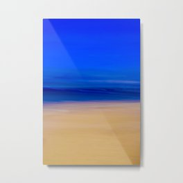 Abstract Beach Scene Metal Print