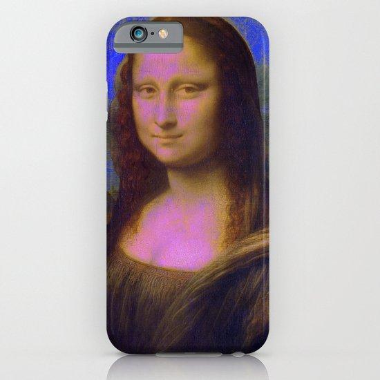 Mona Lisa's Haze (blue) iPhone & iPod Case