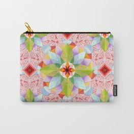 Pink Paisley Flowers Carry-All Pouch