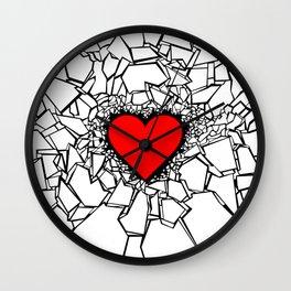Heartbreaker III White Wall Clock