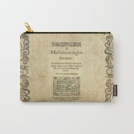 Shakespeare. A midsummer night's dream, 1600 Carry-All Pouch