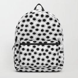 Googly eye pattern – white Backpack