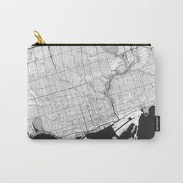 Toronto Map Gray Carry-All Pouch