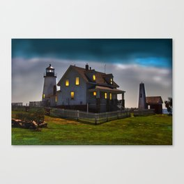 The Lights are on at Pemaquid Canvas Print