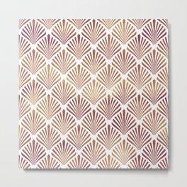 Rose-gold geometric art-deco pattern Metal Print