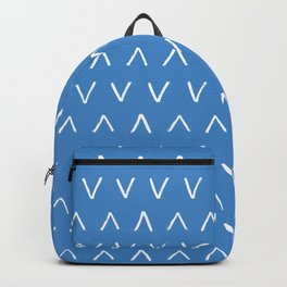 Blue Background with White Angles Backpack