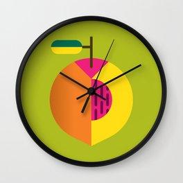 Fruit: Peach Wall Clock