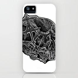 InsanitynArt's Skull Logo. iPhone Case