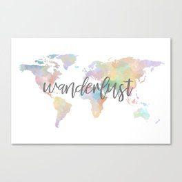 watercolor world no. 2 Canvas Print