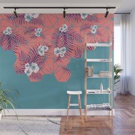 Tropical Fluo Tiles #society6 #decor #buyart Wall Mural