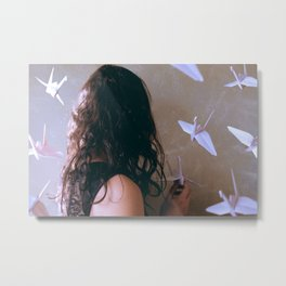 one thousand paper cranes Metal Print