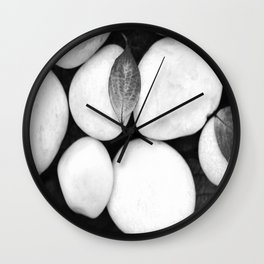 Zen White Stones On A Black Background #decor #society6 #buyart Wall Clock