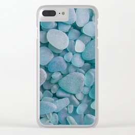 Japanese Sea Glass - Low Tide Blues II Clear iPhone Case