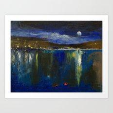 Blue Nocturne Art Print